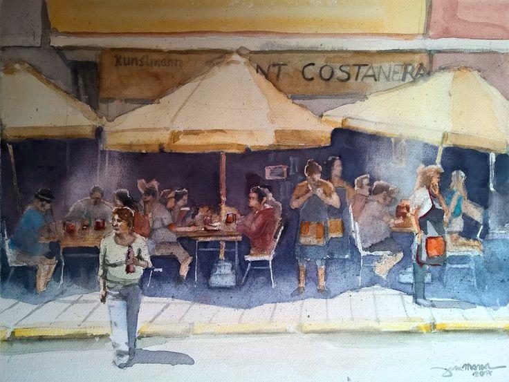 Restaurant Costanera, Valdivia, Chile. #watercolour