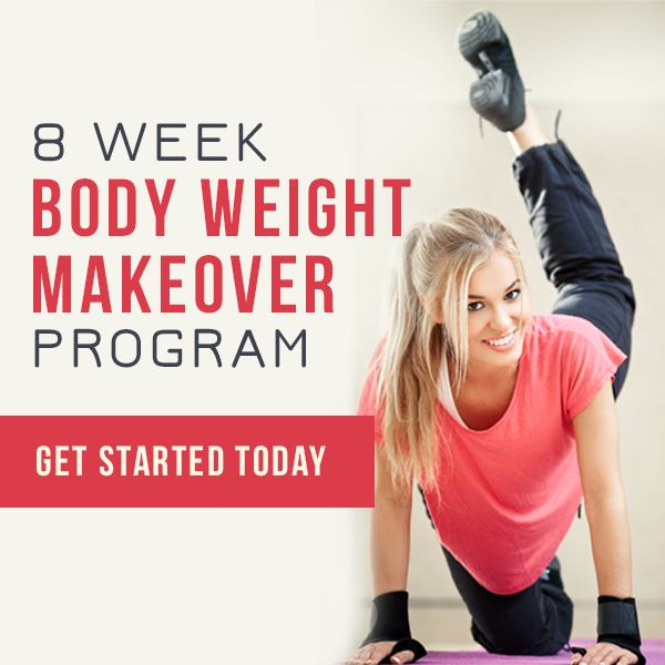 8 Week Body Weight Makeover Program - No Equipment Needed!  #bodyweightworkouts #workouts #fitnessprogram #summer