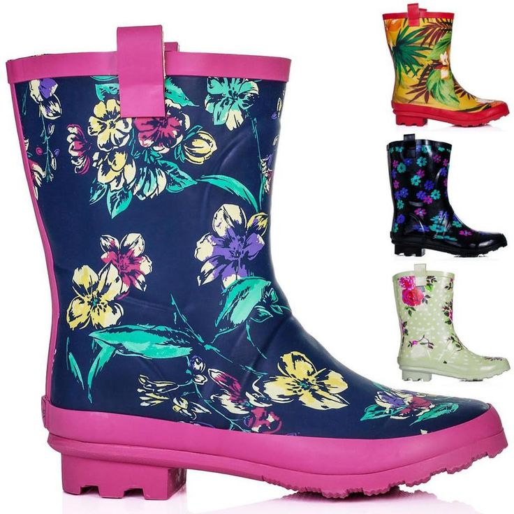 NEW WOMENS FESTIVAL WELLY WELLINGTON ANKLE Rain Boots US 5-10 #Unbranded #WellingtonBoots