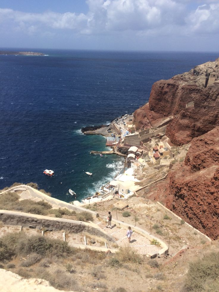 300 steps down to Ammoudi Bay