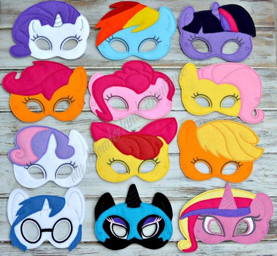 My little pony  mask by MyWonderlandBoutique on Etsy