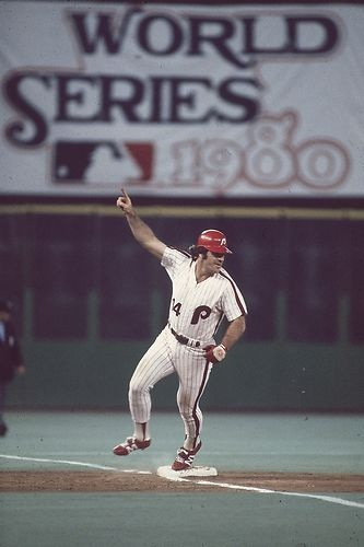 Pete Rose Philadelphia Phillies 1980 World Series Game One