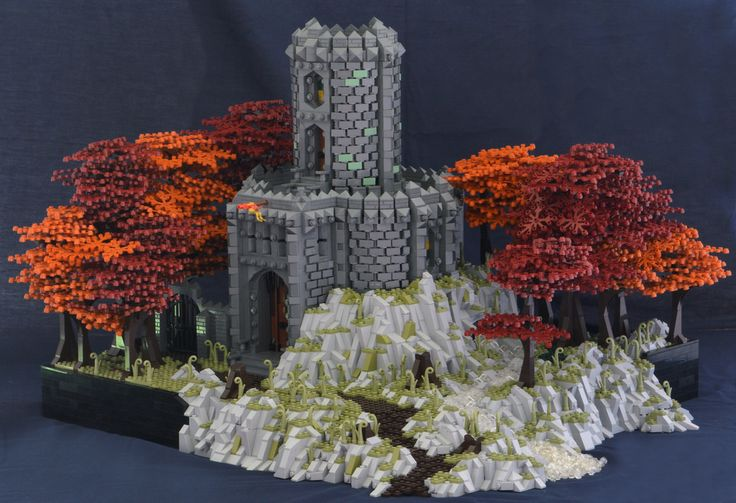 Hey, it's fall y'all!   The change of seasons influenced my choice of color for the foliage in this build for Nocturnus in the Guilds of Historica on Eurobricks.   In case you were in Hot Springs, Arkansas for SpaCon this weekend, you might have seen this MOC there!   Thanks for looking, C&C of course always welcome!