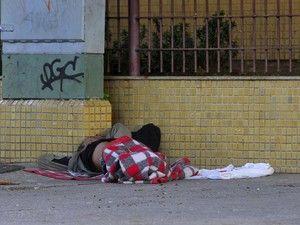 População em situação de rua dorme na capital do Espírito Santo (Foto: Fernando Madeira/ A Gazeta)