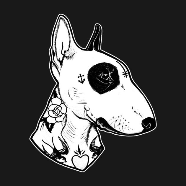 Awesome 'Dog+Tattooed+Bull+Terrier' design on TeePublic!
