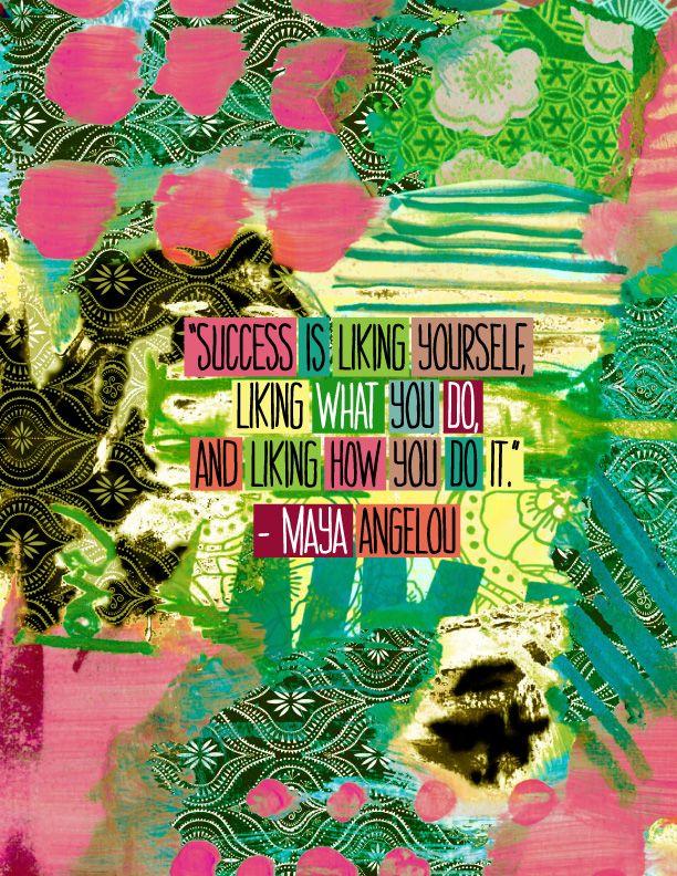 Maya Angelou success quote. Love. #quote #MayaAngelou