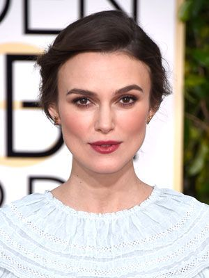Keira Knightley's Golden Globe Hair and Makeup Straight From the Pros