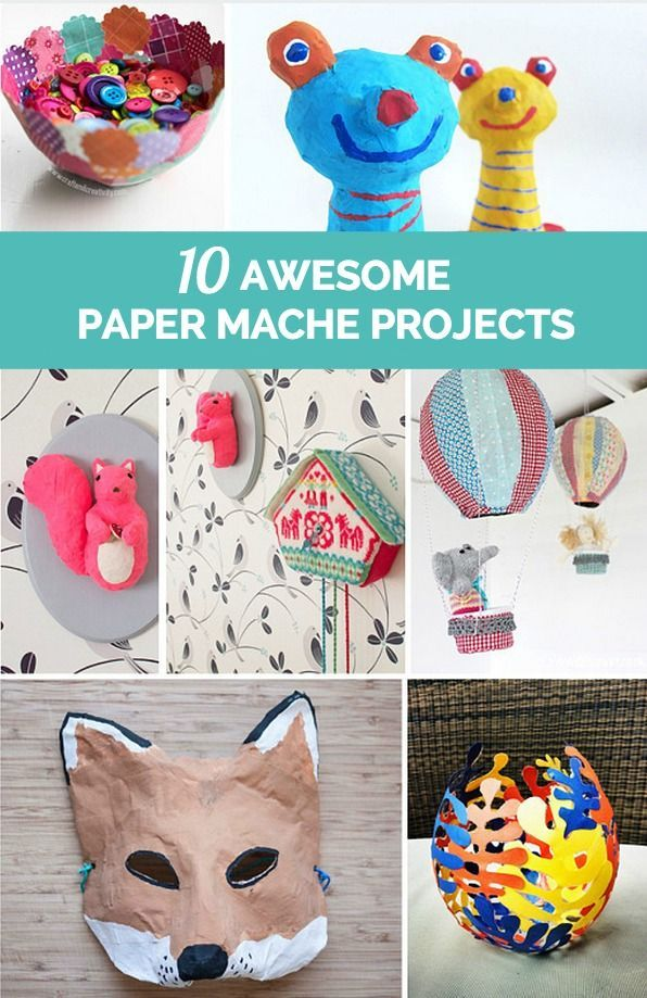 3229 best images about kid stuff on pinterest activities for Paper mache ideas for kids