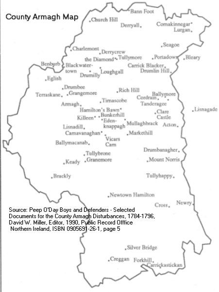County Armagh Ireland Map.Map Of County Armagh Ireland Home Of My Great Great Grandmother