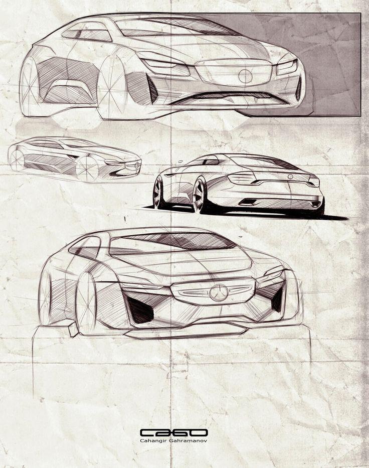 mercedes sketches