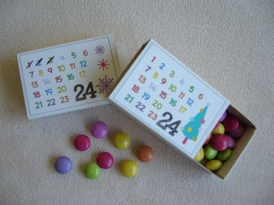 FREE printable mini advent calendar