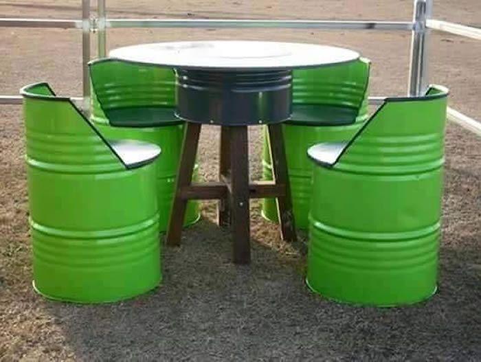 Reciclando Barriles Metálicos de forma muy Creativa