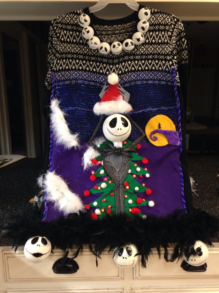 Nightmare Before Christmas Ugly Christmas Sweater The Art and Soul Boutique by Nicole Weekley I make to order and ship!
