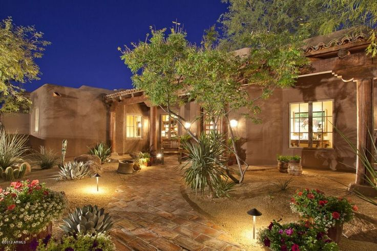 Eclectic Landscape/Yard with exterior stone floors, Troy Landscape Lighting G221 Low-Voltage Path Light, Pathway, Fence