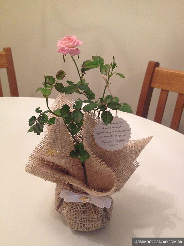 Momentos são passageiros. Lembranças são eternas. Deixe uma lembrança inesquecível no coração de seus convidados.    As mini rosas conferem um toque de charme, delicadeza e romantismo à sua festa. As mudas são plantadas em vasos ou saquinhos com flores abertas e botões de rosas ainda fechados, ag...