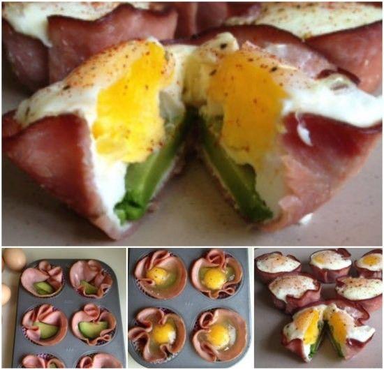 Bacon Egg Avocado Cups