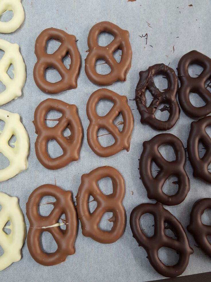 Chocolate coated pretzels from The Chocolate Kitchen UK