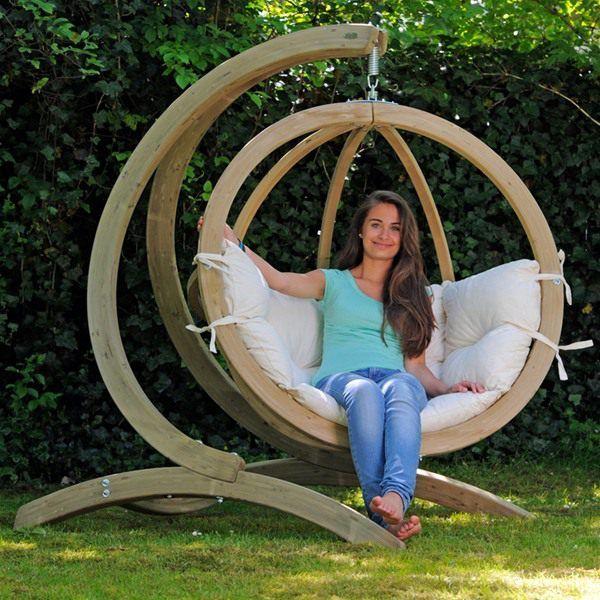 modele de balansoare de gradina Wooden garden swing ideas 10
