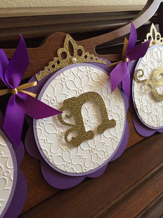 Real la princesa púrpura y oro cumpleaños bebés por SweetMiranda