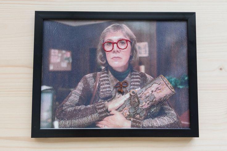 Log Lady Twin Peaks Embroidery (Bordado sobre fotografía)