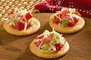 Bruschetta on RITZ Crackers! As simple as they are…