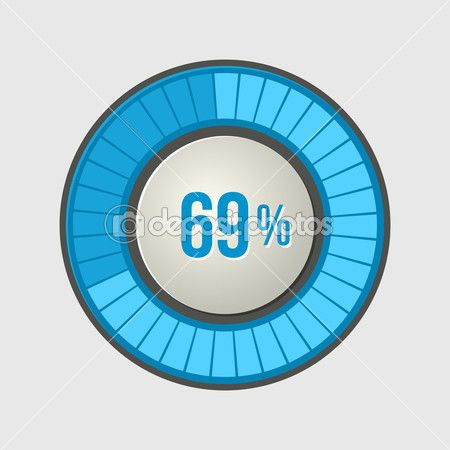 anel de carregar a barra de progresso na luz de fundo. Vector — Ilustração de Stock #50296743