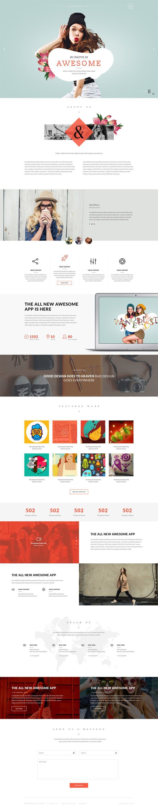 Wanderlust - Multi-Purpose WordPress Shop Theme by AVAThemes #themeforest #website #webdesign