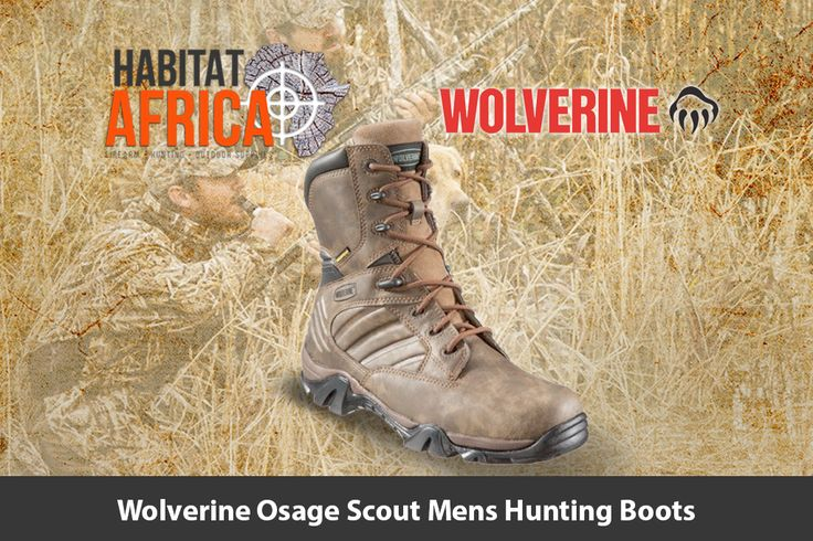 The Wolverine Osage Scout 8″ men's hunting boots feature a…
