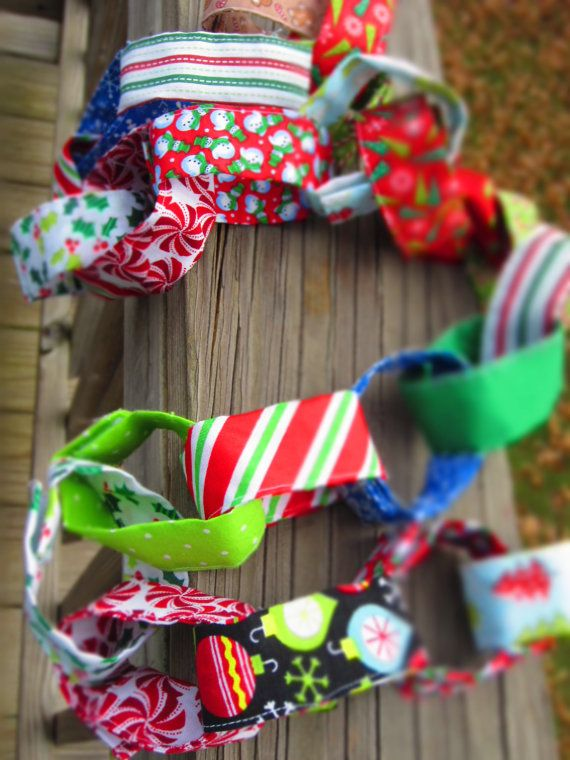 Advent Chain fabric w/ velcro closures by BeechBunch on Etsy