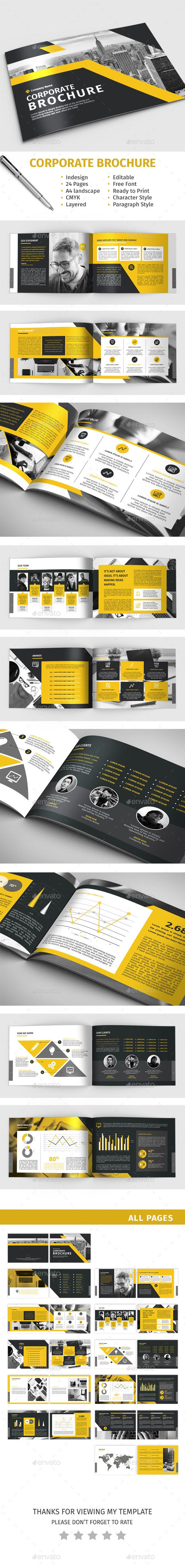 Corporate Brochure Design Template - Corporate Brochures Template InDesign INDD. Download here: https://graphicriver.net/item/corporate-brochure/16894723?s_rank=16&ref=yinkira
