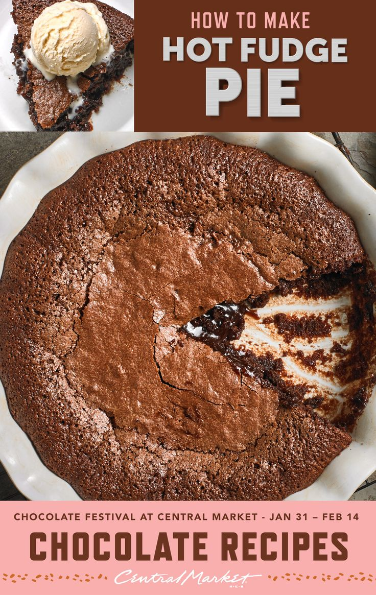 Hot Fudge Pie - Ooey and gooey and just right