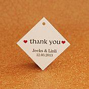 Gepersonaliseerde Rhombus Favor Tag - dank u ... – EUR € 6.59