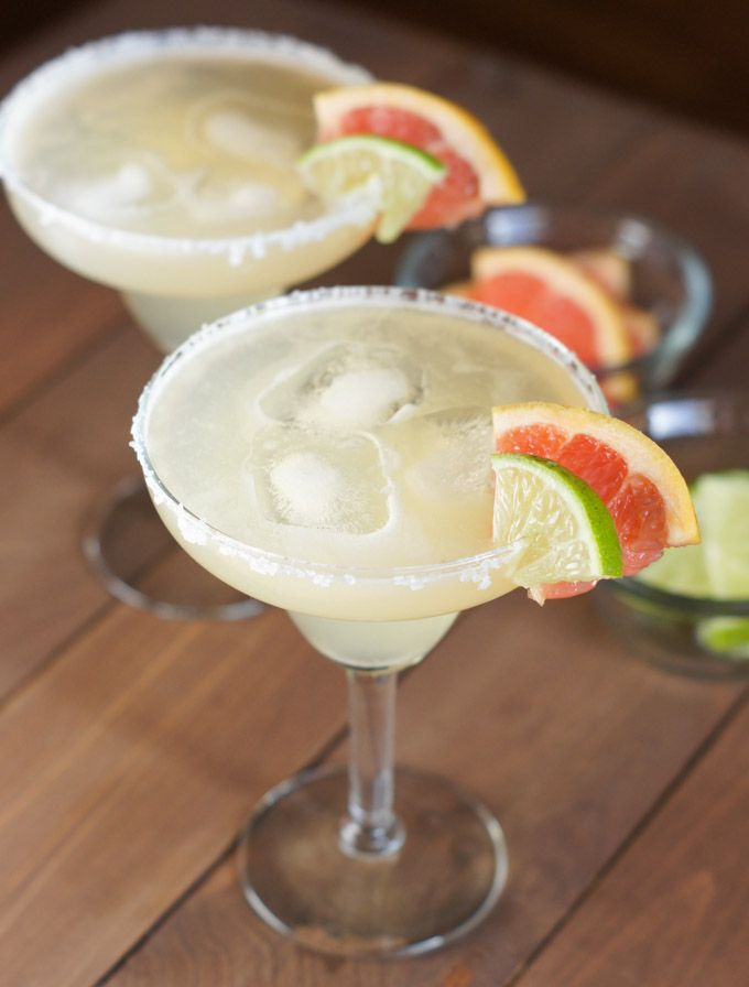 Grapefruit Lime Margaritas ~ A refreshing citrus cocktail perfect for any celebration with friends.