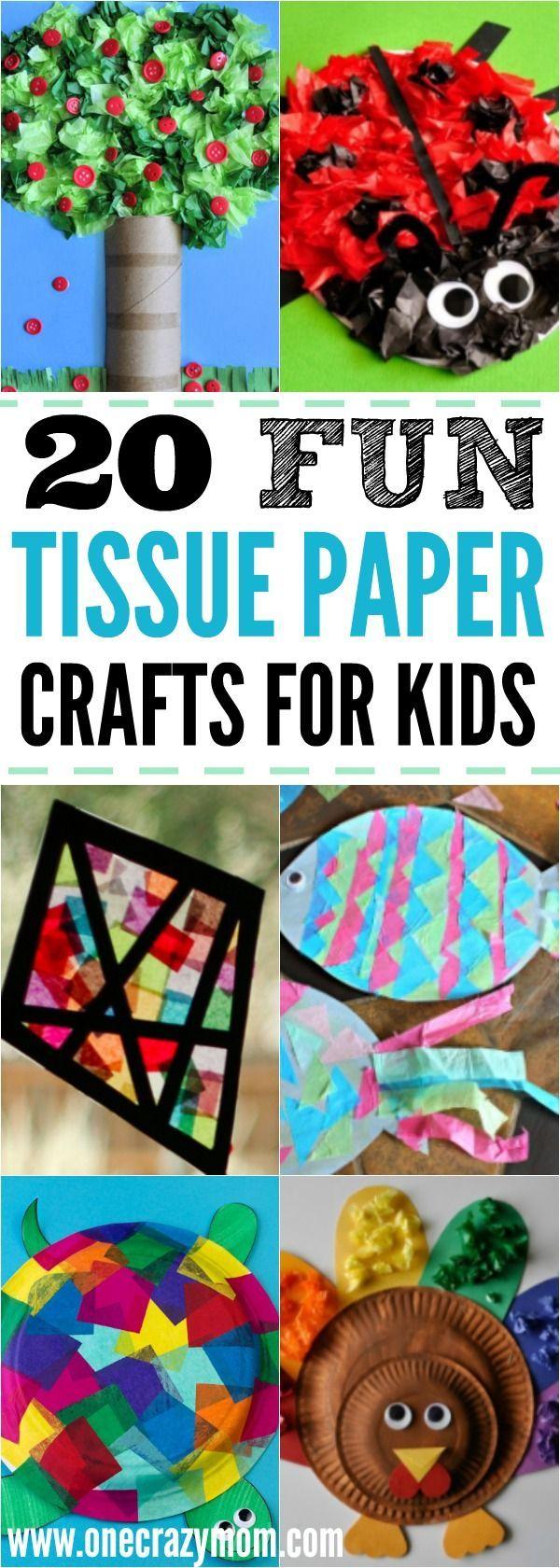 Tissue Paper Crafts for Kids – 20 fun tissue crafts that kids can make