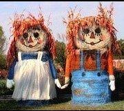 round bale christmas decorations | ... bale decor bale art andi doll raggedi peep sunnysid garden hay bale