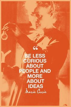 6 Inspiring Quotes From BADA$ Female Scientist Marie Curie