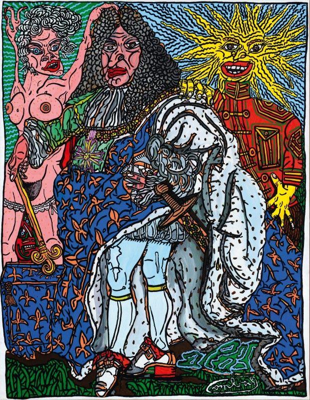 """Robert Combas - """"le roi soleil"""""""
