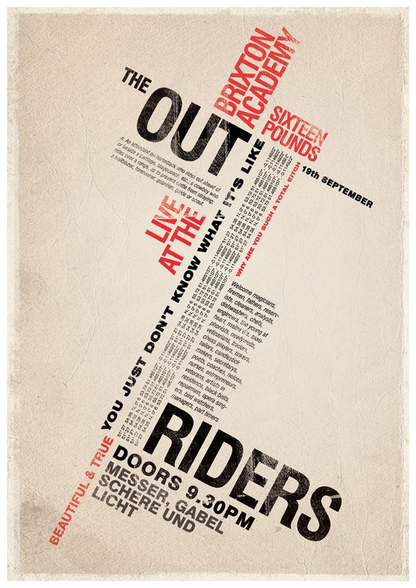 OUTRIDERS TYPE EXPERIMENT by Mike Kammerling, via Behance