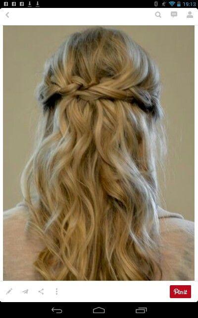 Bridesmaid hair - add flowers