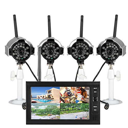 Secure your home today with this 2.4G #Wireless 4CH DVR Security System coming with a 7 #inch TFT-LCD Monitor 4 IR night vision cameras and everything you need fo...