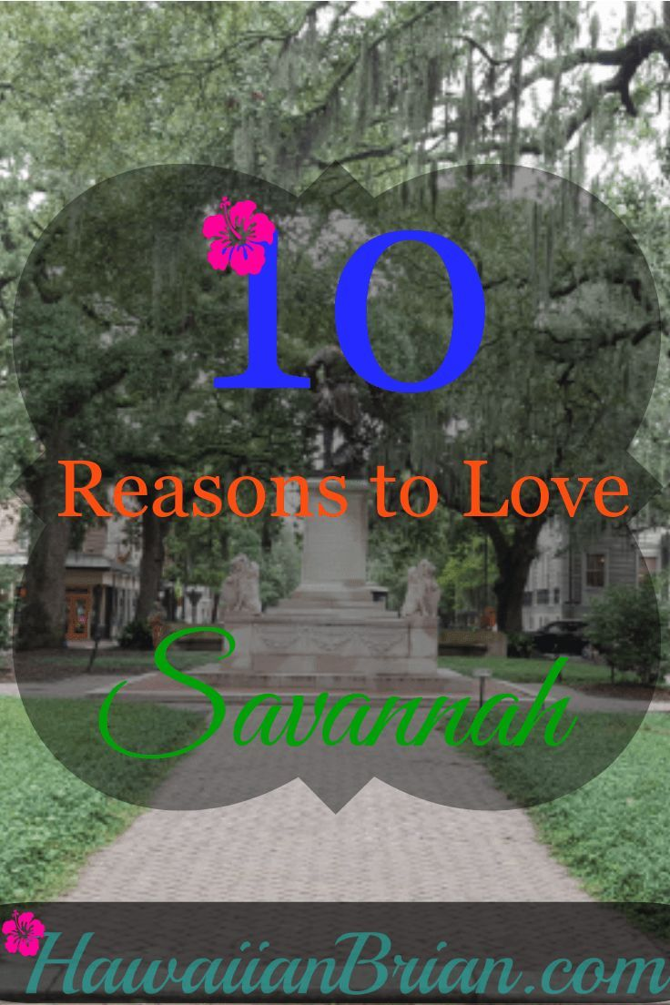 Savannah, Georgia was founded in 1733 and was America's first planned city.  It has 24 squares that function as peaceful public parks throughout the city, and it's fun to walk through this clean and easy to navigate city. #Savannah #Travel #TopTen #Georgia
