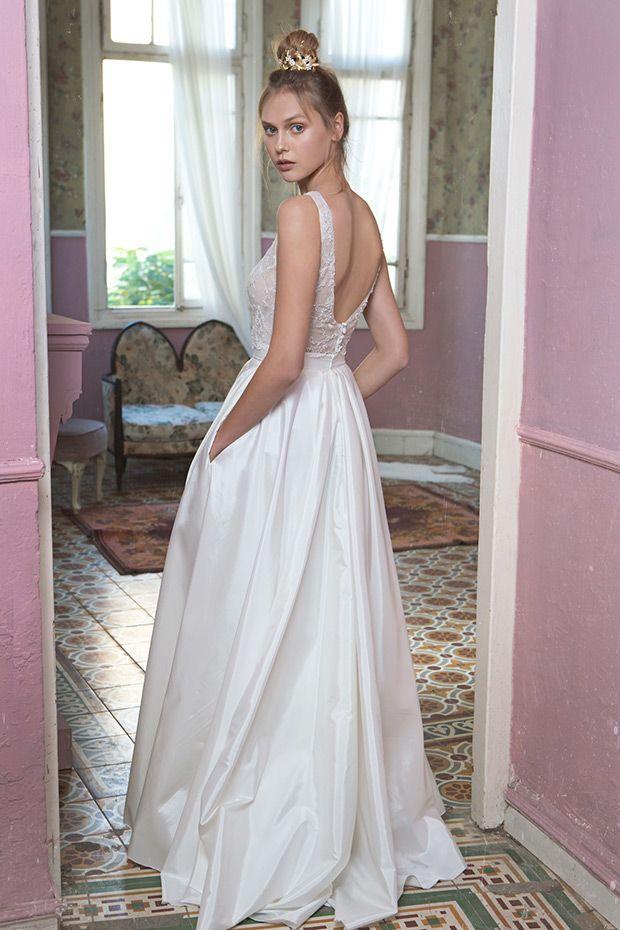 Classic Romantic Tali Handel White Blush Collection 2016 Modern Wedding DressesDelicate