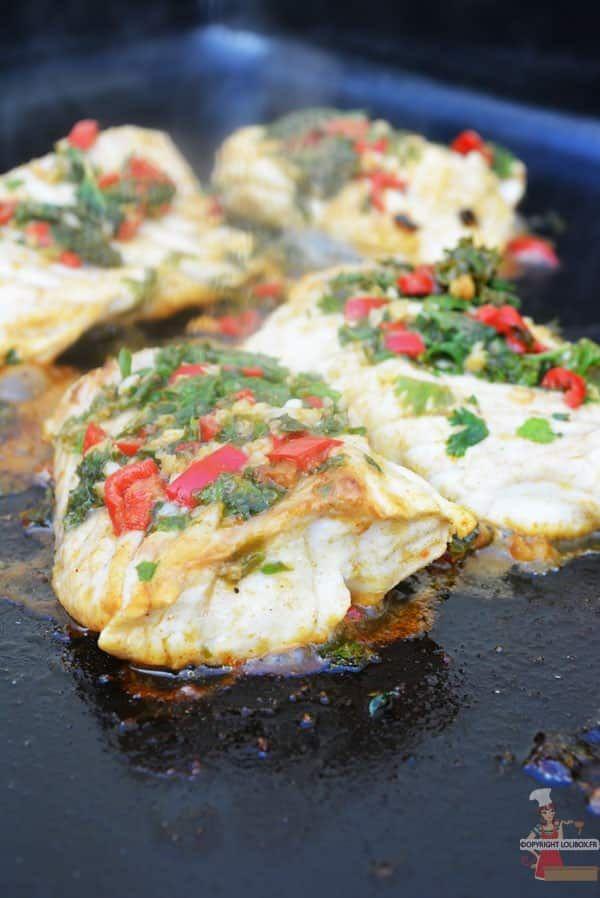 Une recette de cabillaud avec une marinade orientale à la plancha - Dos de cabillaud à la chermoula - Lolibox - Recettes de cuisine