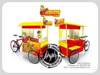 Desain Logo | Logo Kuliner |  Desain Gerobak | Jasa Desain dan Produksi Gerobak | Branding: Desain Gerobak Sepeda Roti Maryam