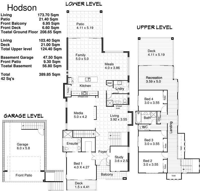 Free House Plans -- Sloping Block House Plans