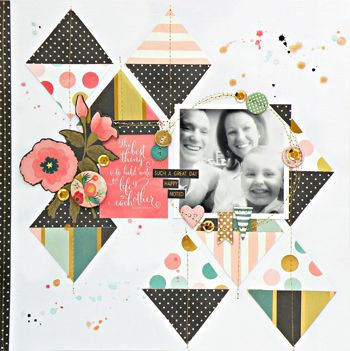 My Creative Scrapbook July Main Kit created by guest designer Stephanie Buice.