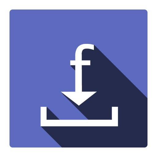 Designed this logo for a facebook downloader today. Material Design.