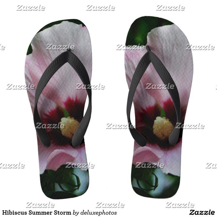 Hibiscus Summer Storm Flip Flops