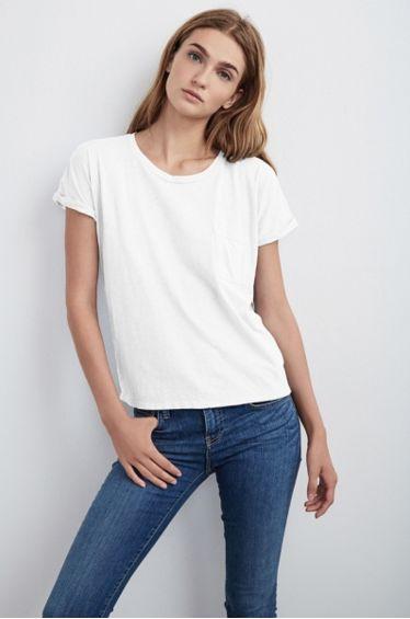 Plain white tee!  100% vintage cotton slub.  So comfy. The Petite Alternative #petitetops #shoppetite