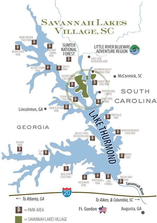 clark hill lake map Lake Blalock Lake Lake Village Small Lake clark hill lake map